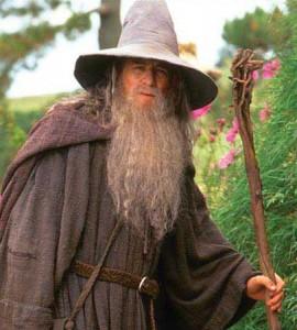 Sir Ian McKllen در نقش گندالف در سهگانه ارباب حلقه ها
