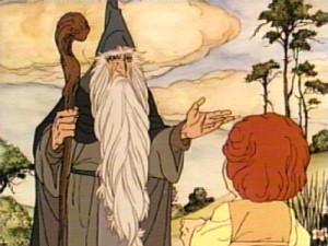 گندالف در انیمیشتن هابیت(1977)