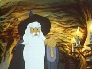 گندالف در انیمیشن ارباب حلقه ها(1978)