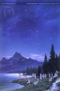 At Lake Cuiviénen, by Ted Nasmith
