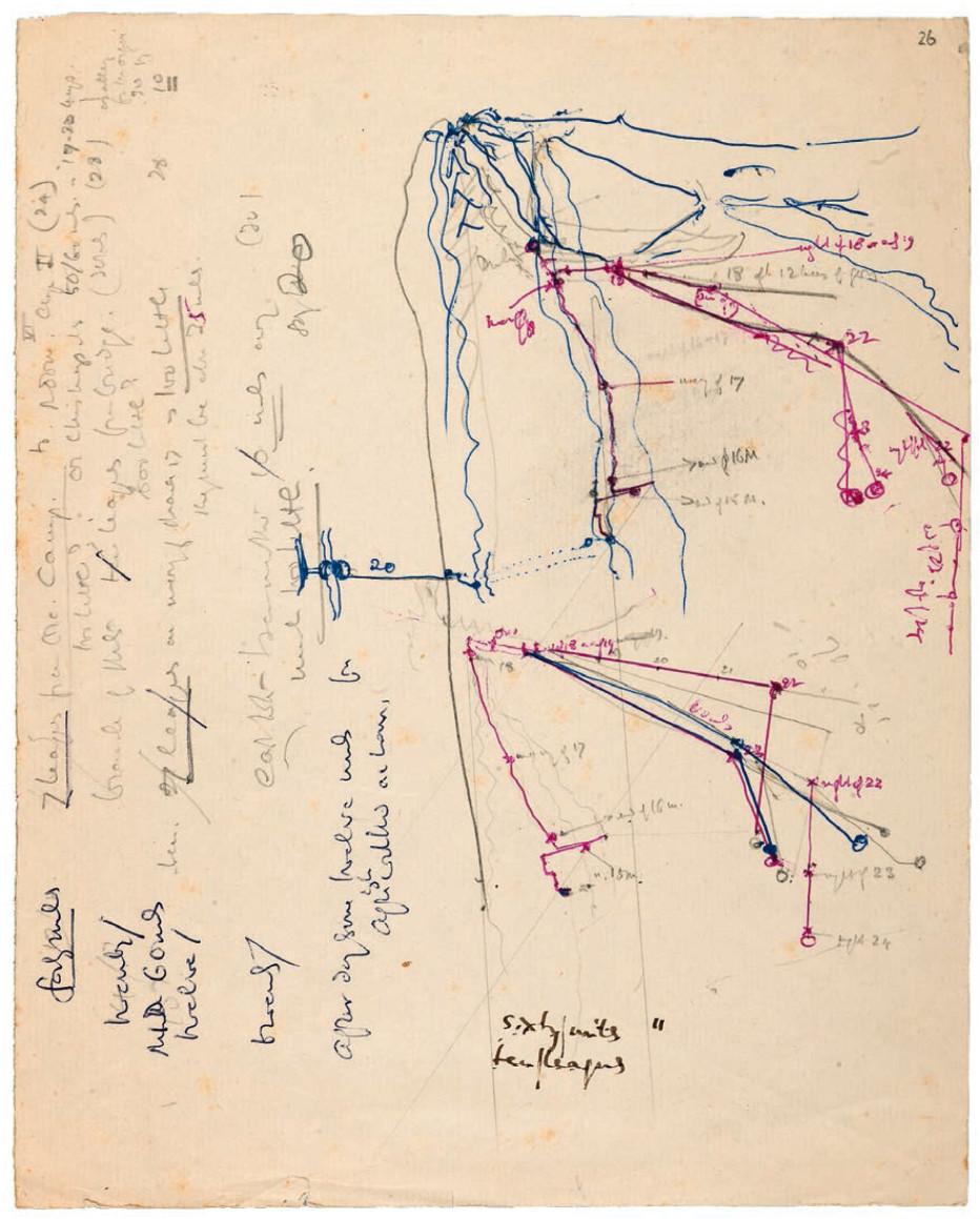 فاصلهها و روزها در موردور، در این طرح نقشه تالکین روی فاصله بین ایستگاههای مختلف کار کرد، مثلا اینکه تنها ۲۰ مایل بین ازگیلیات و تقاطع راهها در میناس مورگول در غرب موردور است