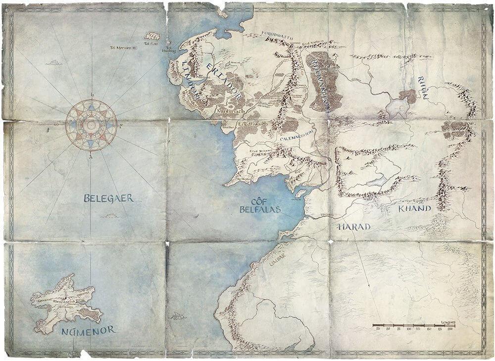 نقشه سریال ارباب حلقهها آمازون