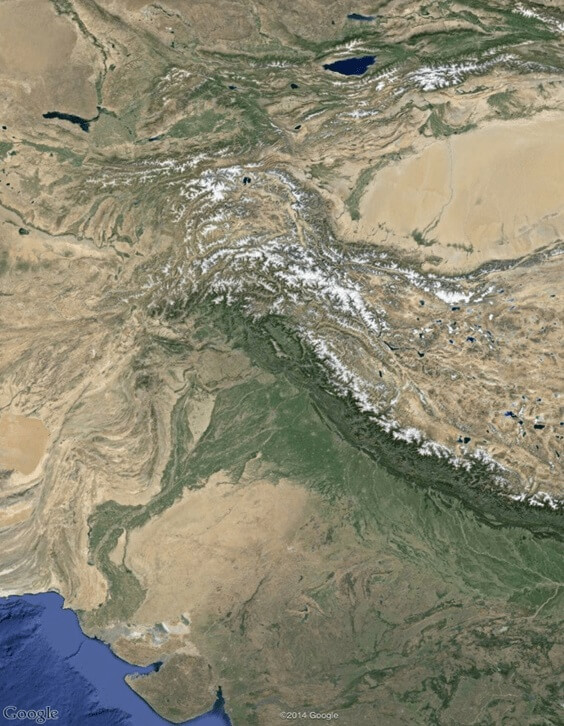 indus river on google maps