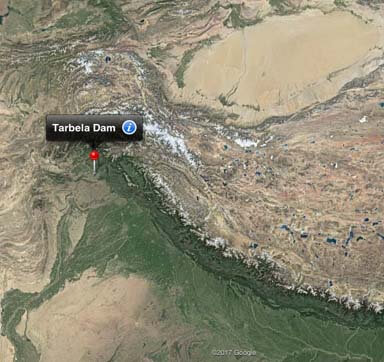 tarbela dam on google maps