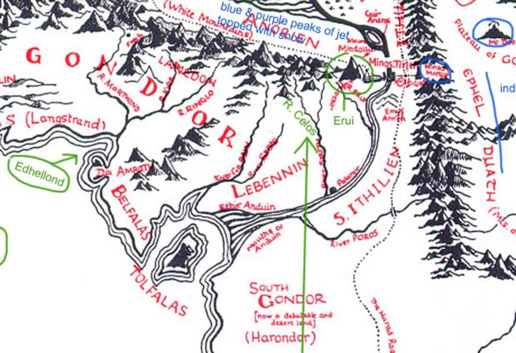 Tolkien Annotated Map Crop