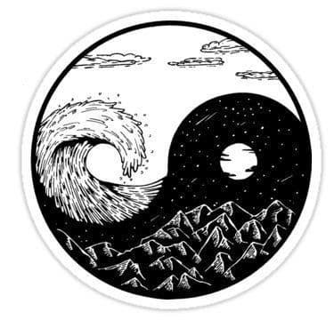 تایجیتو، نماد سنتی نیروهای متضاد یین و یانگ