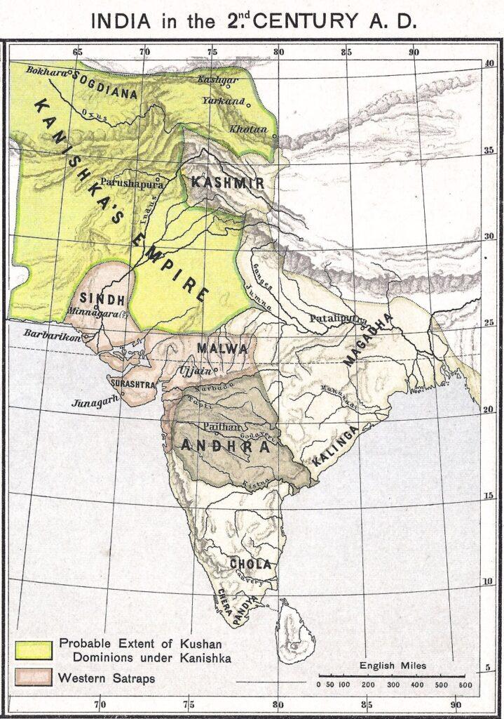 نقشه گاندارا در دوران امپراطوری کوشانیان