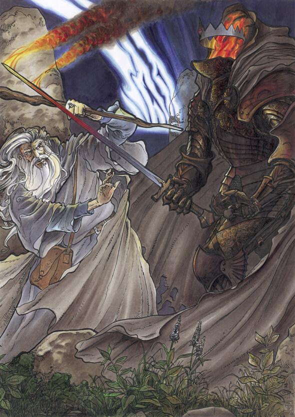 مبارزه گندالف و شاه جادوپیشه در ودرتاپ