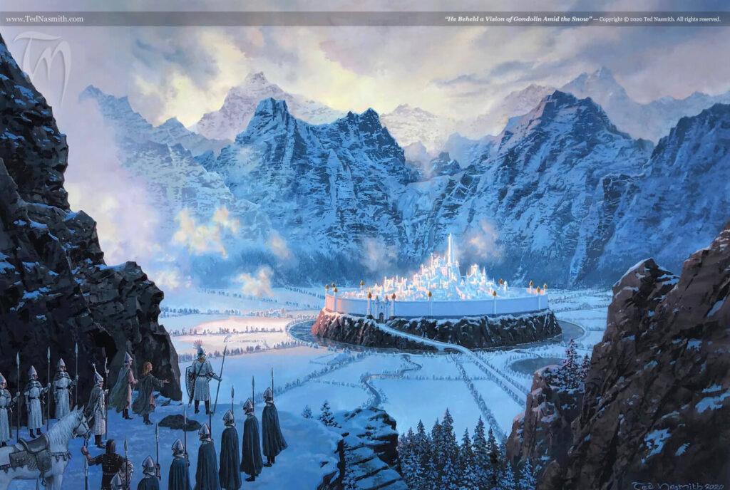نگاه او از میان برف به گوندولین افتاد - تد نسمیت