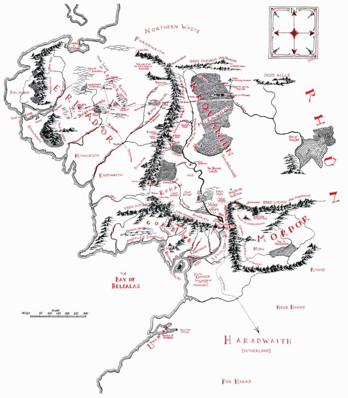 Middle-Earth Map by Christopher Tolkien