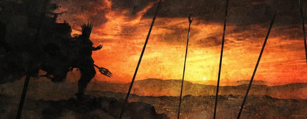 سائورون و حلقه یگانه در سرزمین موردور آنجا که سایهها آرامیدهاند